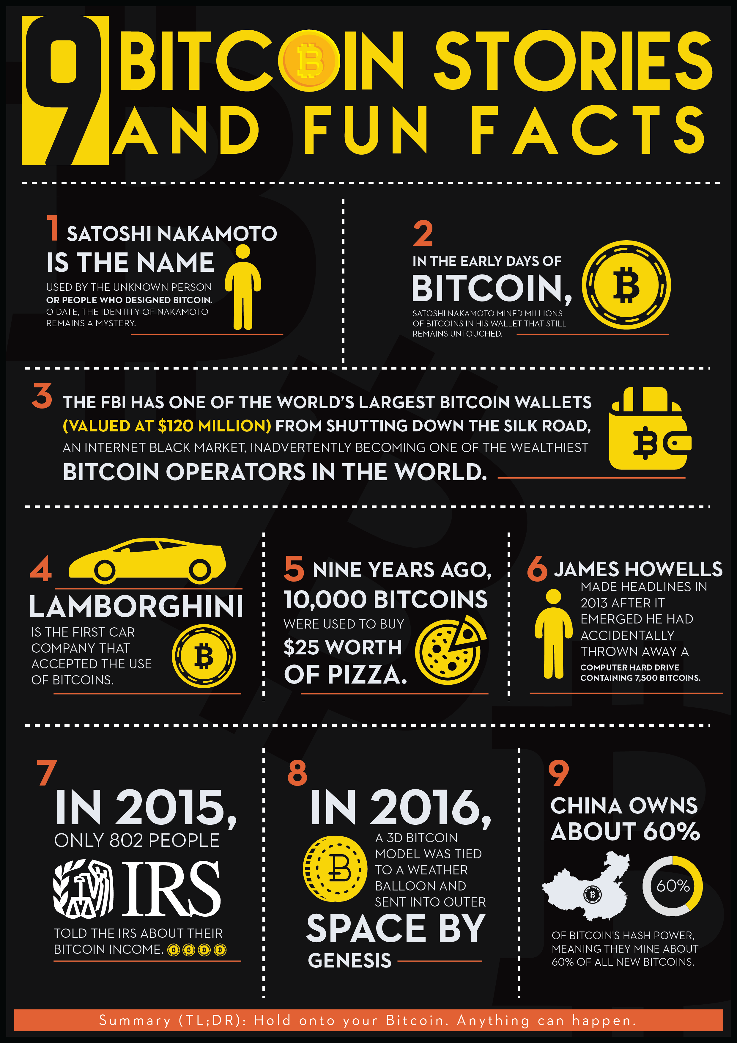 9 Bitcoin Stories and Fun Facts [Infographic]