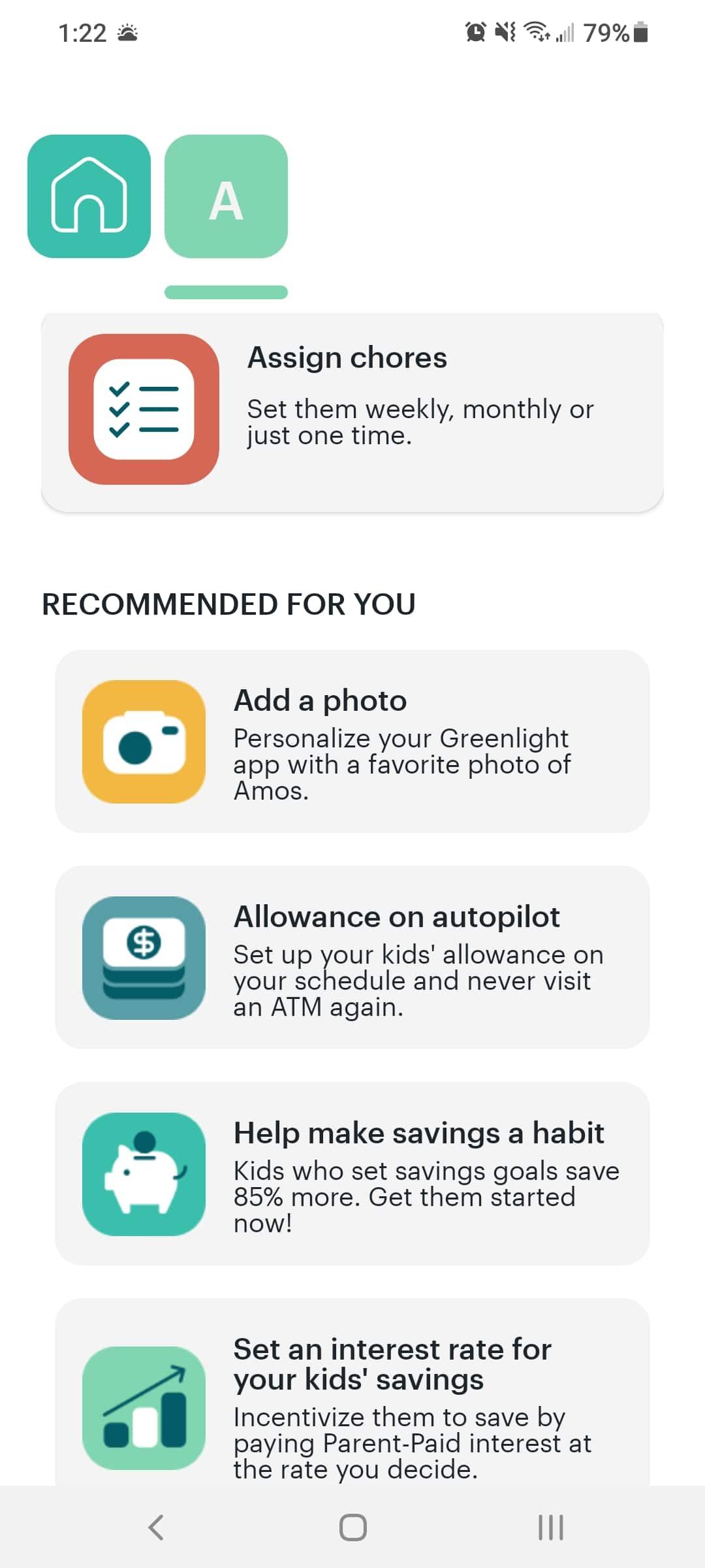 greenlight app review - checklist